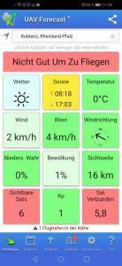 UAV Forecast App